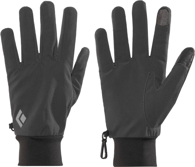 Black Diamond Lightweight Softshell Gloves smoke
